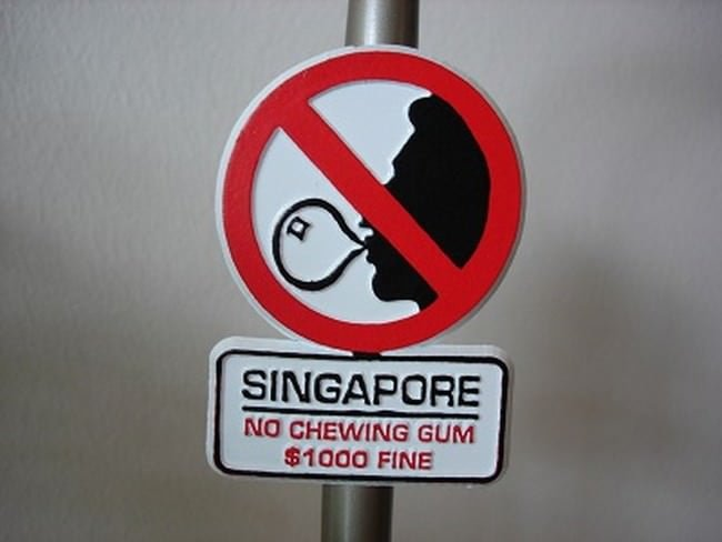GUMA DO ŻUCIA - Singapur