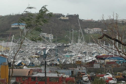 Uszkodzenia spowodowane huraganem Ivan