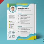 Piękny i designerski szablon CV PSD CV w formacie A4