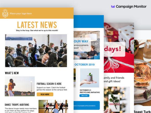 4 Bezpłatne szablony wiadomości e-mail od Campaign Monitor