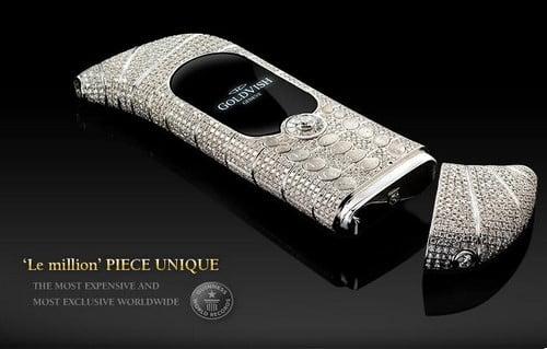 GoldVish Le Million - 1,3 miliona dolarów drogich telefonów komórkowych