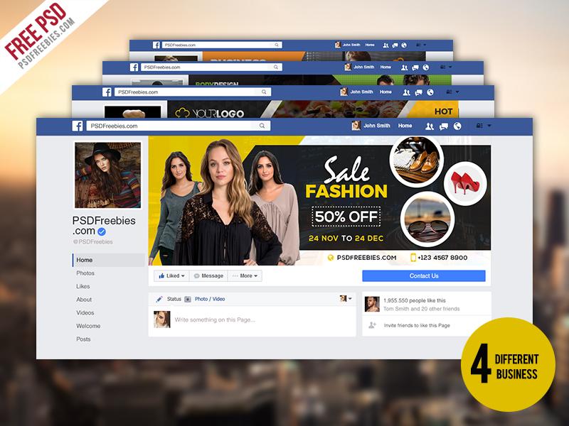 Biznesowy pakiet PSD osi czasu na Facebooku