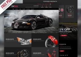 Akcesoria samochodowe e-commerce Szablon PSD