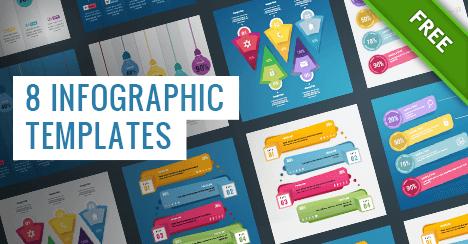 8 Darmowych szablonów infografiki PSD