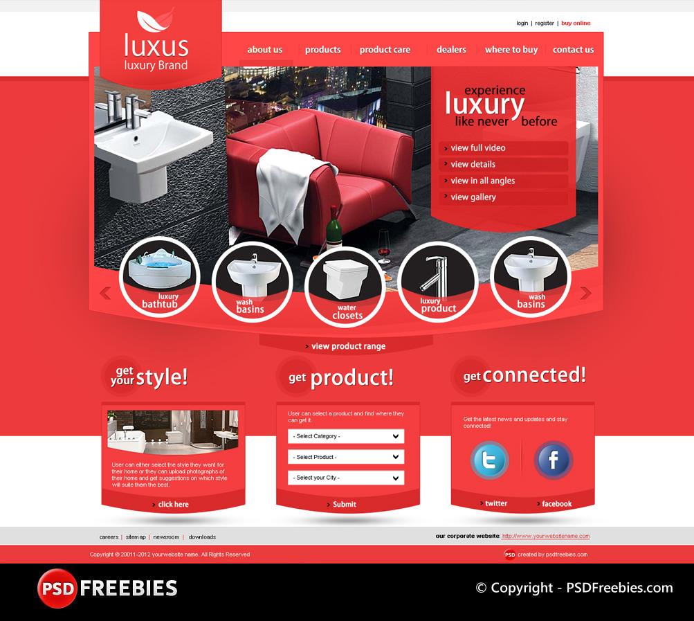 Szablon PSD luksusowej marki Luxus