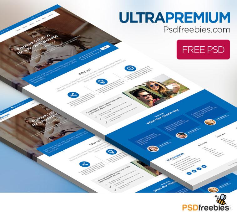 Strona korporacyjna Ultra Premium Darmowe PSD