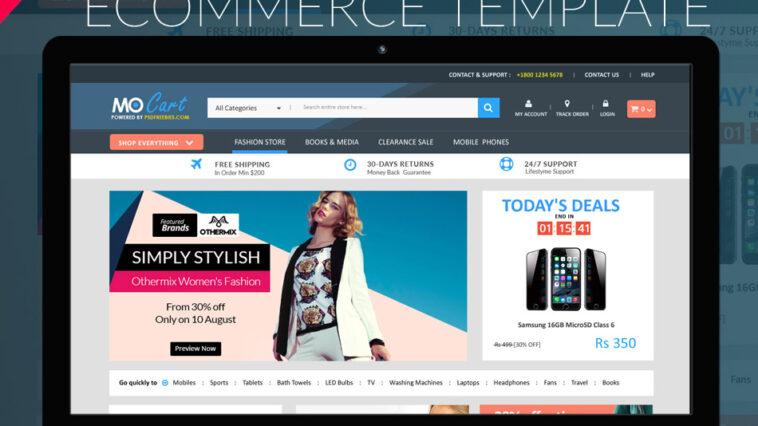 Szablon PSD witryny e-commerce Mocart