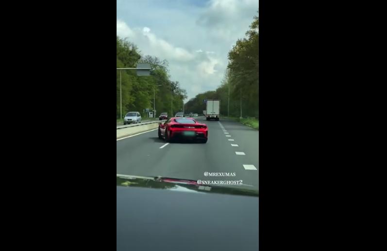 Pijany kierowca rozbił samochód warty 350 tys. euro. Jest nagranie